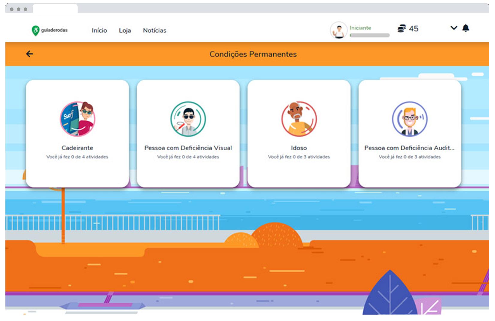 Imagem Plataforma gamificada a favor da acessibilidade